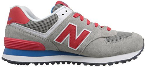 New Balance NBWL574MON Sneaker, Donna Grey Red