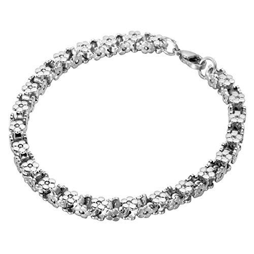 housweety-acier-inoxydable-bracelet-chaine-maille-venitienne-fleurs-lien-poignet-avec-fermoir-mousqu