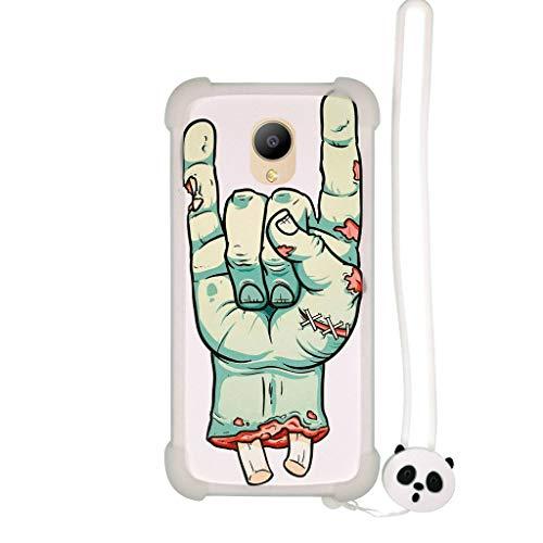 Lovewlb Hülle für elephone p25 hülle Silikon Grenze + PC hart backplane Schutzhülle Case Cover Nacht-Leuchtende SZ