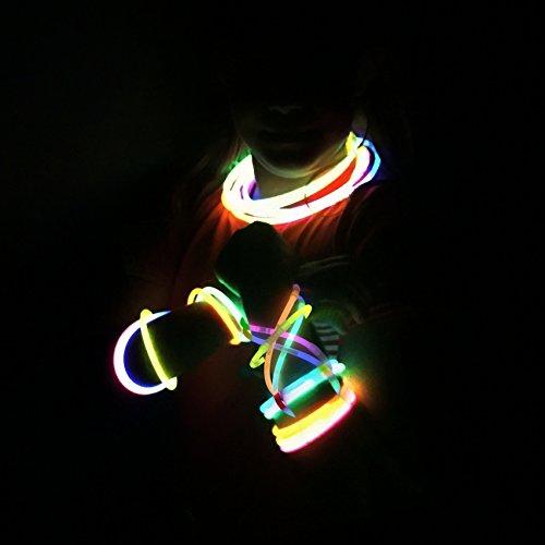 Imagen de 100 pulseras luminosas glow pack multicolor entrega 1 3 días alternativa