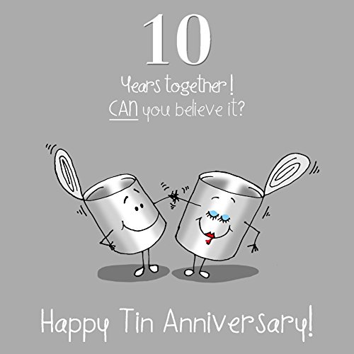 10 Year Wedding Anniversary Tin Gifts: Tin Anniversary Gift: Amazon.co.uk