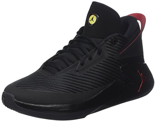 Nike Jordan Fly Lockdown, Chaussures de Basketball Homme, Noir (Black/Varsity Red/Dandelion 012), 45 EU