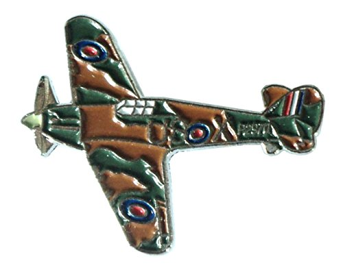 WW2 Hawker Hurricane RAF Military Aircraft Metal Enamel