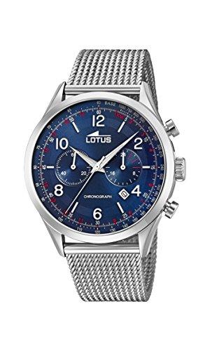 Lotus Watches Reloj Cronógrafo para Hombre de Cuarzo con Correa en Acero Inoxidable 18555/3