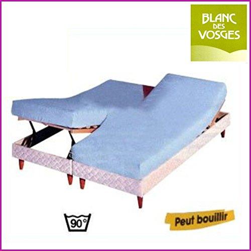 Blanc des Vosges Protection literie relevable Coton/PVC 2 x 70 x 190 (2 pers)