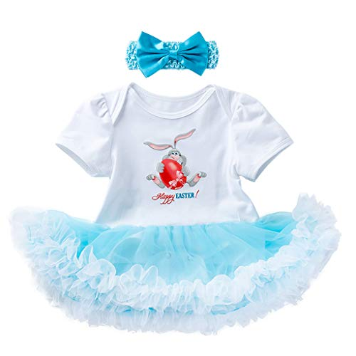 IZHH Baby MäDchen Outfits Set Easter Bunny Egg -