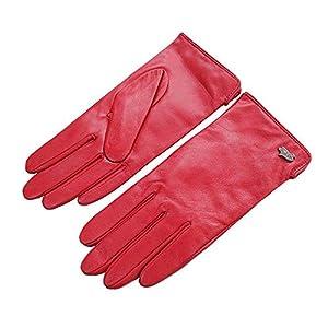WU Einfache Und Großzügige Grundlegende Warme Lederschaffellhandschuhe Mehrfarbige Wahlweise Freigestellte Damenhandschuhe