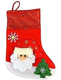 JYC Calcetines Mujer,Medias Mujer Sexy,Navidad Medias Calcetines Santa Claus CarameloRegalo Bolso Navidad
