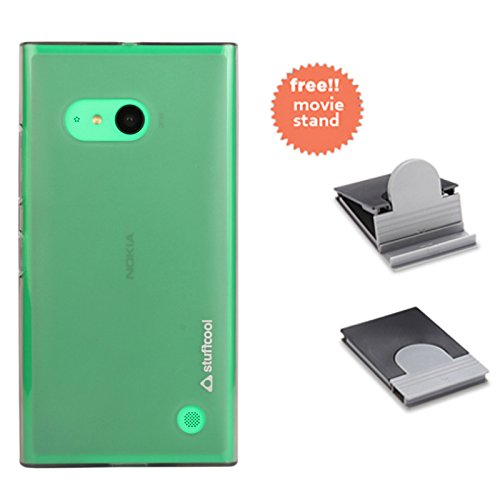 Stuffcool Lisse Soft Back Case Cover for Nokia Lumia 730 - Tinted Grey (LSNK730-TGRY)  available at amazon for Rs.149