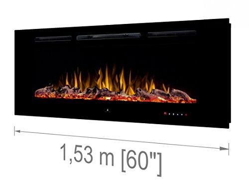 Noble Flame París 1530 [Chimenea eléctrica Empotrada Pared / Montado en la...