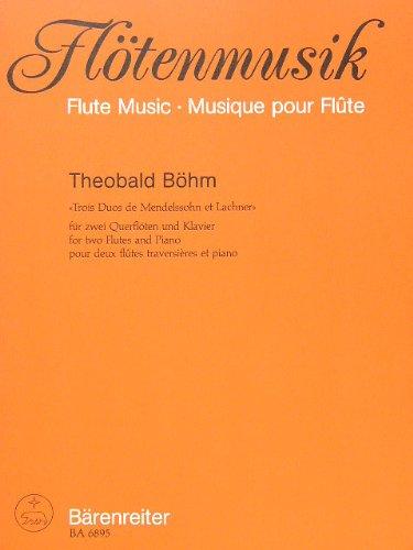 Produktbild 3 DUETTE DE MENDELSSOHN ET LACHNER - arrangiert für zwei Querflöten - Klavier [Noten / Sheetmusic] Komponist: BOEHM THEOBALD