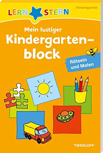 Mein lustiger Kindergartenblock. Rätseln und Malen ab 3 Jahren (LERNSTERN)