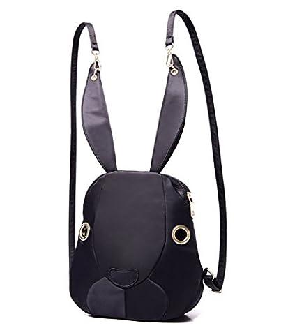 YAAGLE Nylon Bunnies Girls Shoulder Bag Casual Travel Messenger Bag Rabbit Women Backpack
