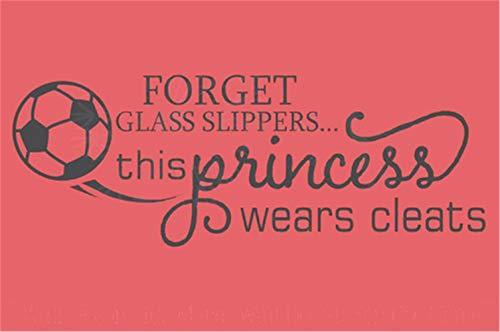 wandaufkleber kinderzimmer jungs wandaufkleber schmetterling rosa Forget Glass Slippers Diese Prinzessin trägt Klampen