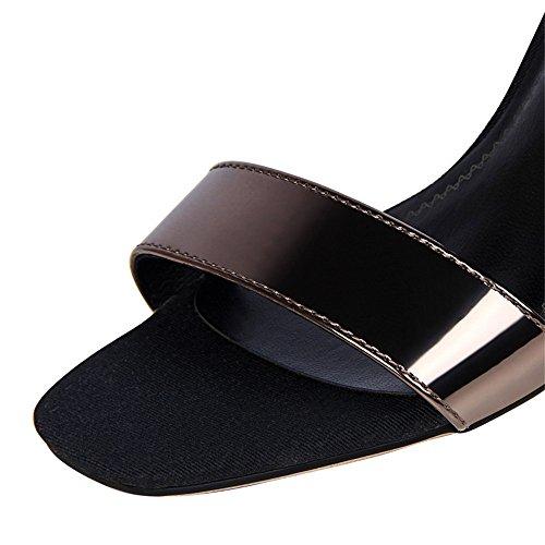 z&dw Mode simple et mince talons un mot avec ol professionnel sandales Cannelle