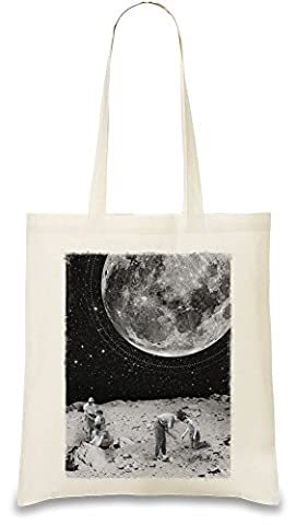 Space Farmers Custom Printed Tote Bag  100% Soft Cotton  Natural Color & Eco-Friendly  Unique, Re-Usable & Stylish Handbag For Every Day Use  Custom Shoulder Bags By Bang Bangin