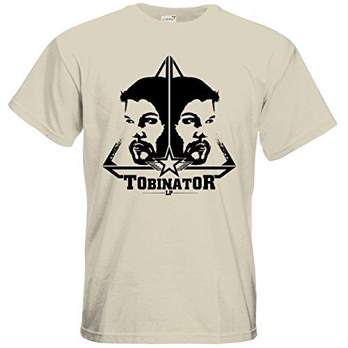 getshirts - Tobinator Official Merchandise - T-Shirt - StarBadge dark Natural