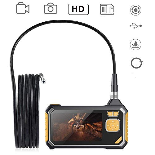THINKMIC Inspektionskameras, 4,3-Zoll-HD1080P-LCD-Farbbildschirm, Handheld-Endoskop, Industria, Home, 6 LEDs, IP67 wasserdicht, 7 Sprachen - 5 Meter Potensic Semi-Rigid Line