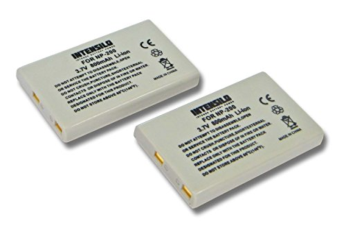 INTENSILO 2x Li-Ion Batteria 800mAh (3.7V) per Fotocamera Videocamera Konica Minolta Dimage X, Xg, Xi, Xt, Xt Biz sostituisce