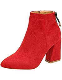 Sandalias es 2018 Amazon Botas Mujer Zapatos Para Verano Rojo aqdHf5