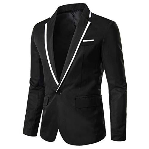 TEBAISE Anzugjacken Herren Shiny Anzug Slim Fit Sakko Eins knopf Blazer Multi Farbe V Ausschnitt Anzug für 2019 Nachtklub Hochzeit Partei Business Abschluss Party Freizeit Büro mit Vordertasche
