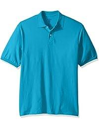 Jerzees Mens Spot Shield Short Sleeve Polo Sport Shirt Short Sleeve Polo Shirt