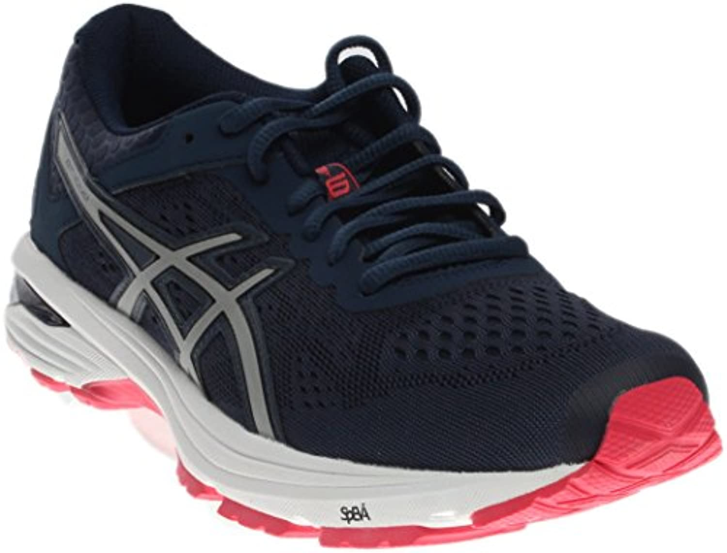 ASICS Women's GT-1000 6 Running-Shoes, Insignia Blue/Silver/Rouge Red, 6.5 Medium US