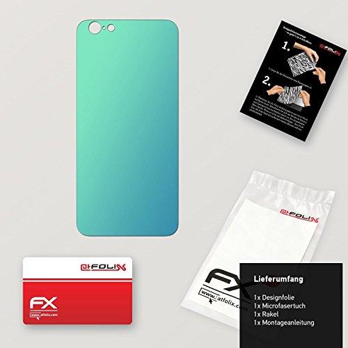 """Skin Apple iPhone 6 """"FX-Carbon-Red"""" Designfolie Sticker FX-Variochrome-Lapis-Blue"""