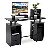 CRAZYLYNX Computer Desk, Office Study Desk Computer PC Laptop Table Workstation Dining Gaming