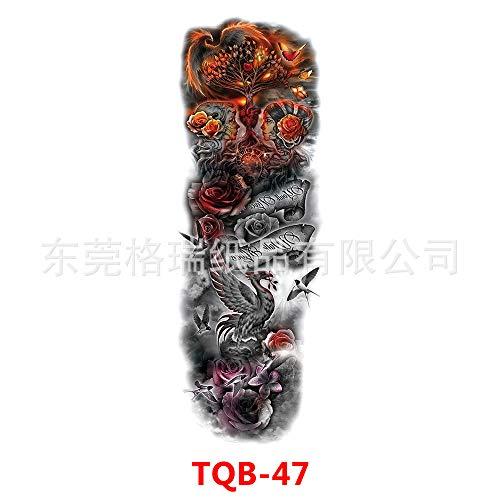 tzxdbh 3Pcs-Full Arm Tattoo Aufkleber Arm Tattoo Aufkleber Einweg wasserdicht große Blume Arm 3Pcs-8 - 8 Gesichts-serum