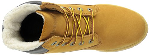 Timberland 6in Premium Fleece L Orange, Bottes Track femme Wheat Nubuck