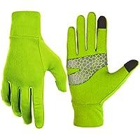 ZHJBD Equipo de Proteccion/Ocio al Aire Libre Esquí Guantes de Invierno Pantalla táctil A Prueba de Viento Camping Senderismo Guantes de Uso cálido (Color : Green, Size : M)