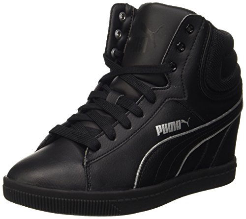 Puma Vikky Wedge L Fs, Sneaker Woman (Basketball), Nero/Argento, 5 EU