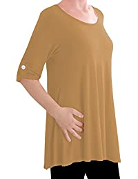 Eyecatch TM Oversize - Jessica Womens Tunic Plus Size Scoop Neck Ladies Flared Long Top