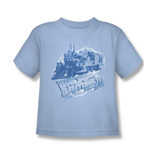 Back To The Future III - Zurück in die Zukunft III - Juvy Zeitzug T-Shirt in hellblau, Large (7), Light Blue