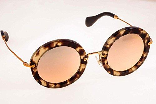 Miu Miu Unisex Sonnenbrille Noir MU13NS, Gr. One size (Herstellergröße: 49), Braun (Havana UBB2D2) (Miu Sonnenbrille Beige Miu)