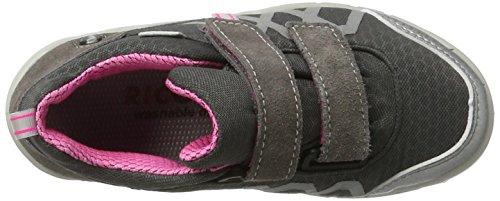 Ricosta - Steve, Pantofole Bambina Grau (Grau/Graphit/Pink)