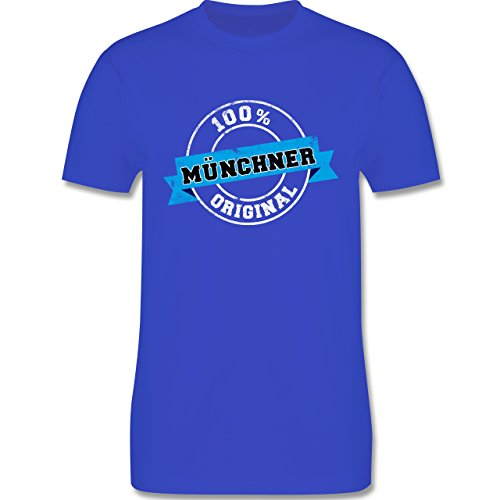 Städte - Münchner Original - Herren Premium T-Shirt Royalblau