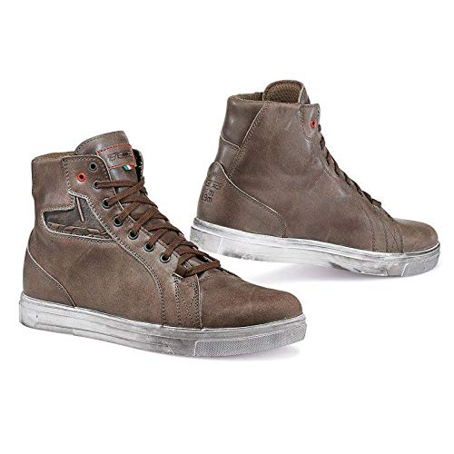 SCARPE STRADA TURISMO TCX 9401W STREET ACE WATERPROOF COFFEE BROWN 47