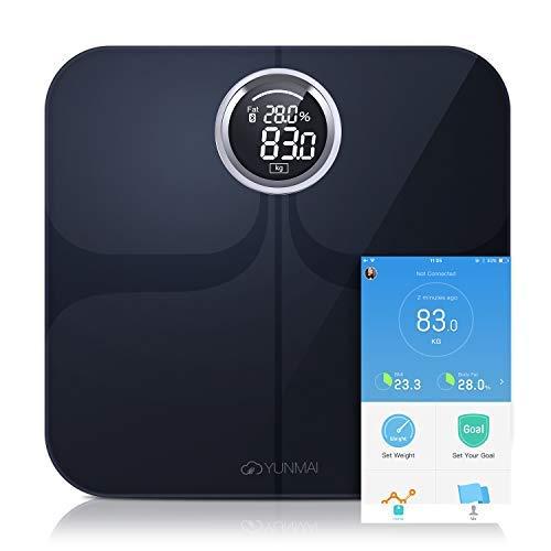 Smart Personenwaage YUNMAI Premium Bluetooth Körperfett-Waage mit Kostenloser iOS- und Android-App, Datensynchronisierung mit den meisten Health-Apps