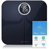 YUNMAI Premium Bascula Baño, Báscula Grasa Corporal con Aplicación Gratuita para iOS y Android, Los Datos se Sincronizan.