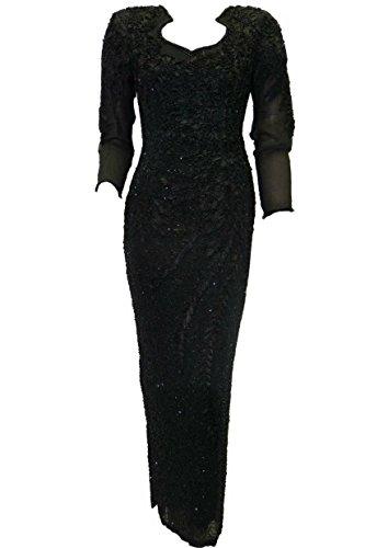 Wensling Abendkleid Ballkleid Celina in schwarz mit Beinschlitz Gr. 36