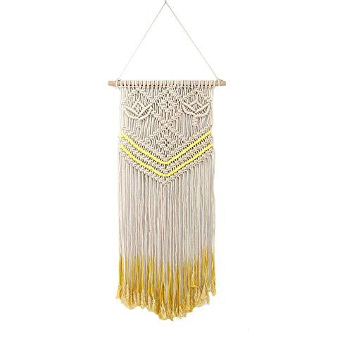 Maoran 1X Tapiz Tapicería de algodón Bohemio Atrapasueños con Flecos Inicio artesanía decoración Colgante de Pared joyería Creativa Borla decoración de la Boda Colgante 45 * 90cm