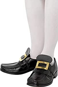 Smiffys Hebilla metálica de Zapato de Las Historias de la Antigua Inglaterra, Dorada, con Tira elástica