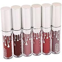 godhl 6colores resistente al agua Matte brillo de labios Maquillaje Pintalabios Liquid Lipstick Belleza Lip Gloss