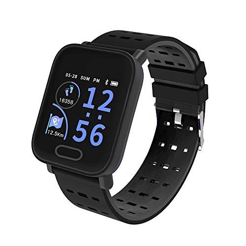 Oasics Smartwatch für Männer und Frauen , Display, NFC, Bluetooth, WLAN, Tizen OS, KY109 Bluetooth Smart Watch Herzfrequenz Sauerstoff Blutdruck Sport Fitness Tracker (schwarz)