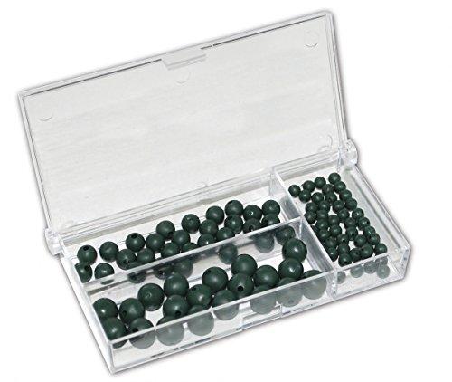 100 Gummiperlen Gummi Perlen Sortiment Stopper Stopperperlen Rubber Beads Set