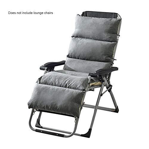 Kunststoff Grau Klappsessel (Abnehmbare geflochtenen Stuhl Klappsessel Pad einteiliges Kissen Kissen Plüsch Universal Mat)