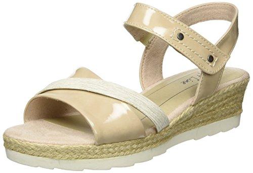 Softline Damen 28363 Offene Sandalen mit Keilabsatz Braun (DUNE COMB. 414)