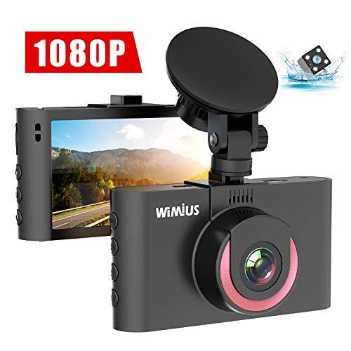 Caméra de Voiture, WiMiUS Double Dashcam Voiture Embarquée Enregistreur de Conduite FHD 1080P Écran 3'' IPS LCD Caméra Avant Arrière Grand Angle 170°, G-Capteur, WDR, Vision Nocturne